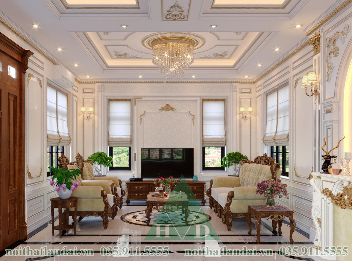 Thiết kế phòng khách lâu đài 02