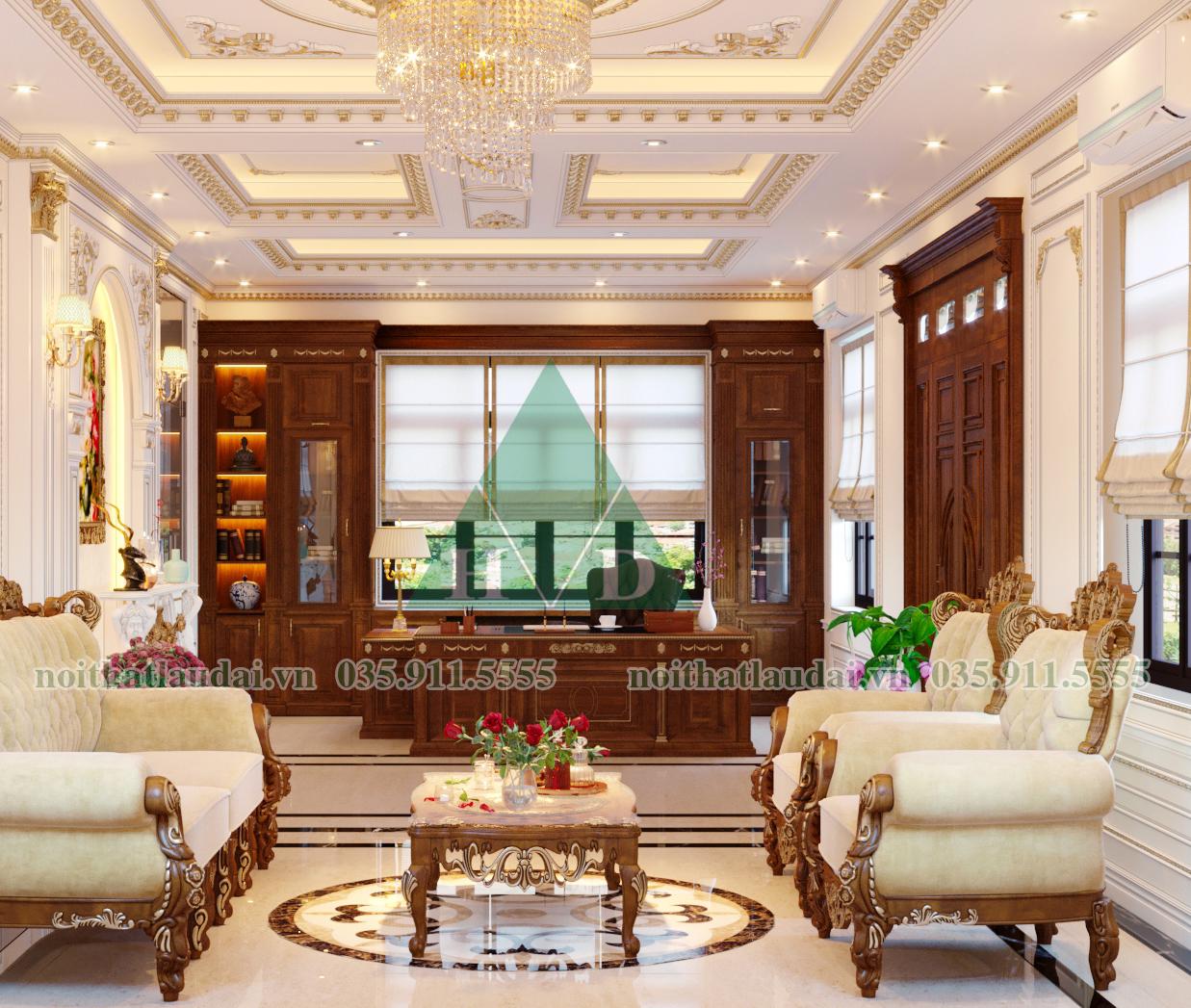 Thiết kế nội thất phòng khách biệt thự 02
