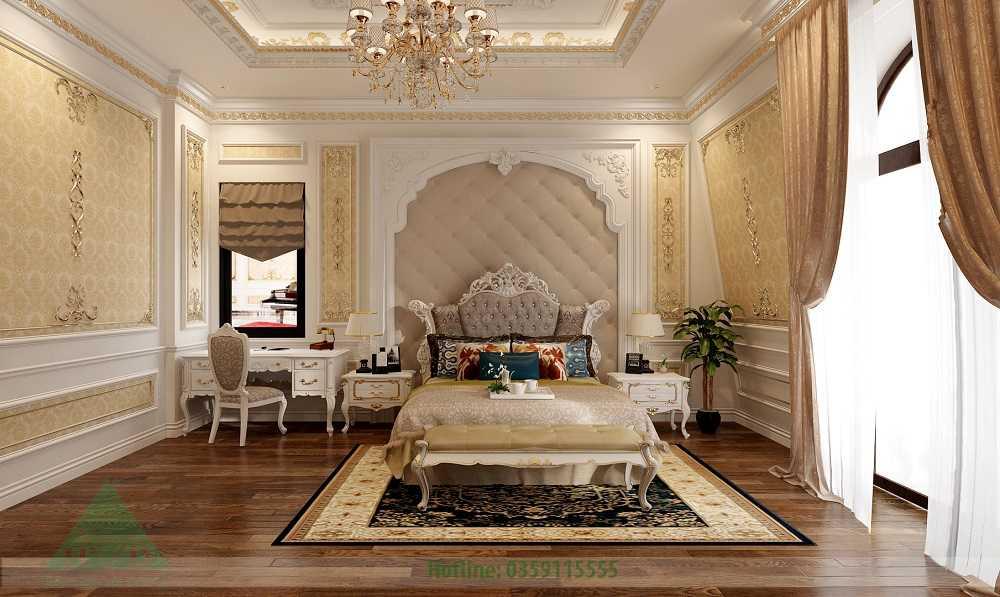 Thiết kế nội thất phòng ngủ tầng 1 nhà Anh Đăng