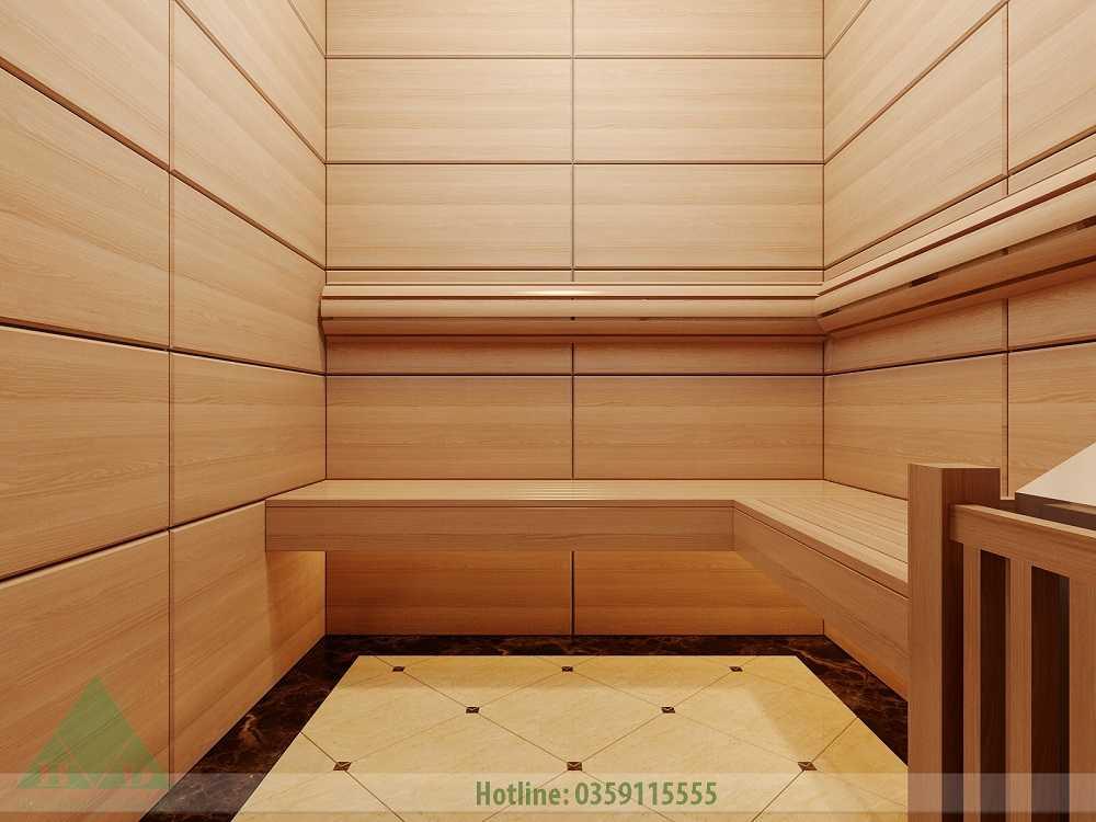 Thiết kế nội thất phòng xông hơi nhà Anh Đăng