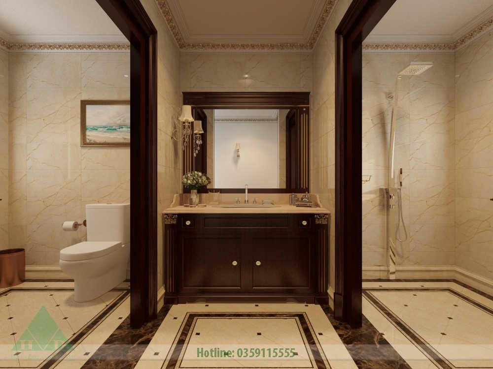 Thiết kế nội thất phòng wc nhà Anh Đăng