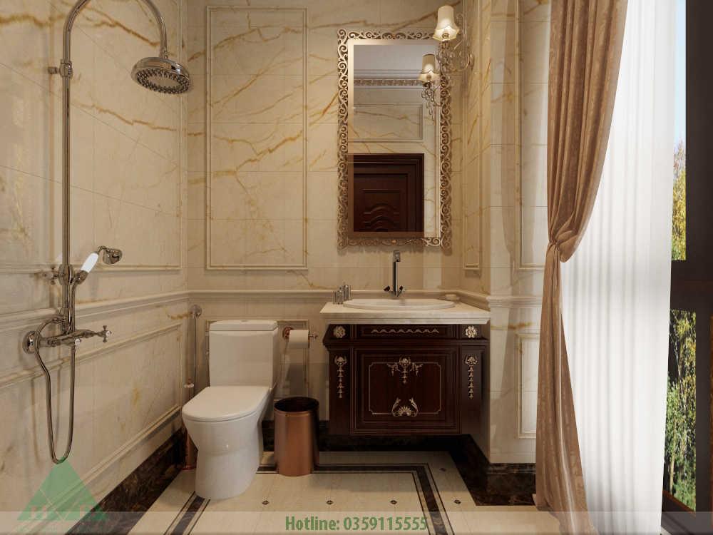 Thiết kế nội thất wc phòng khách nhà Anh Đăng
