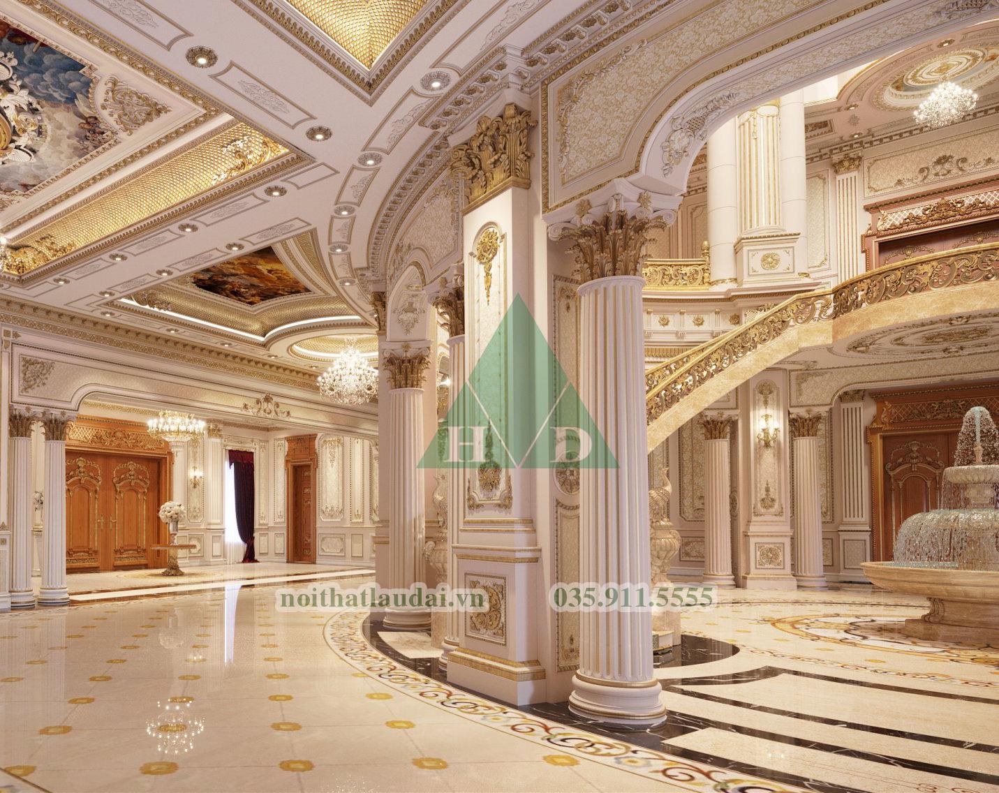 Thiết kế nội thất sảnh lâu đài 2