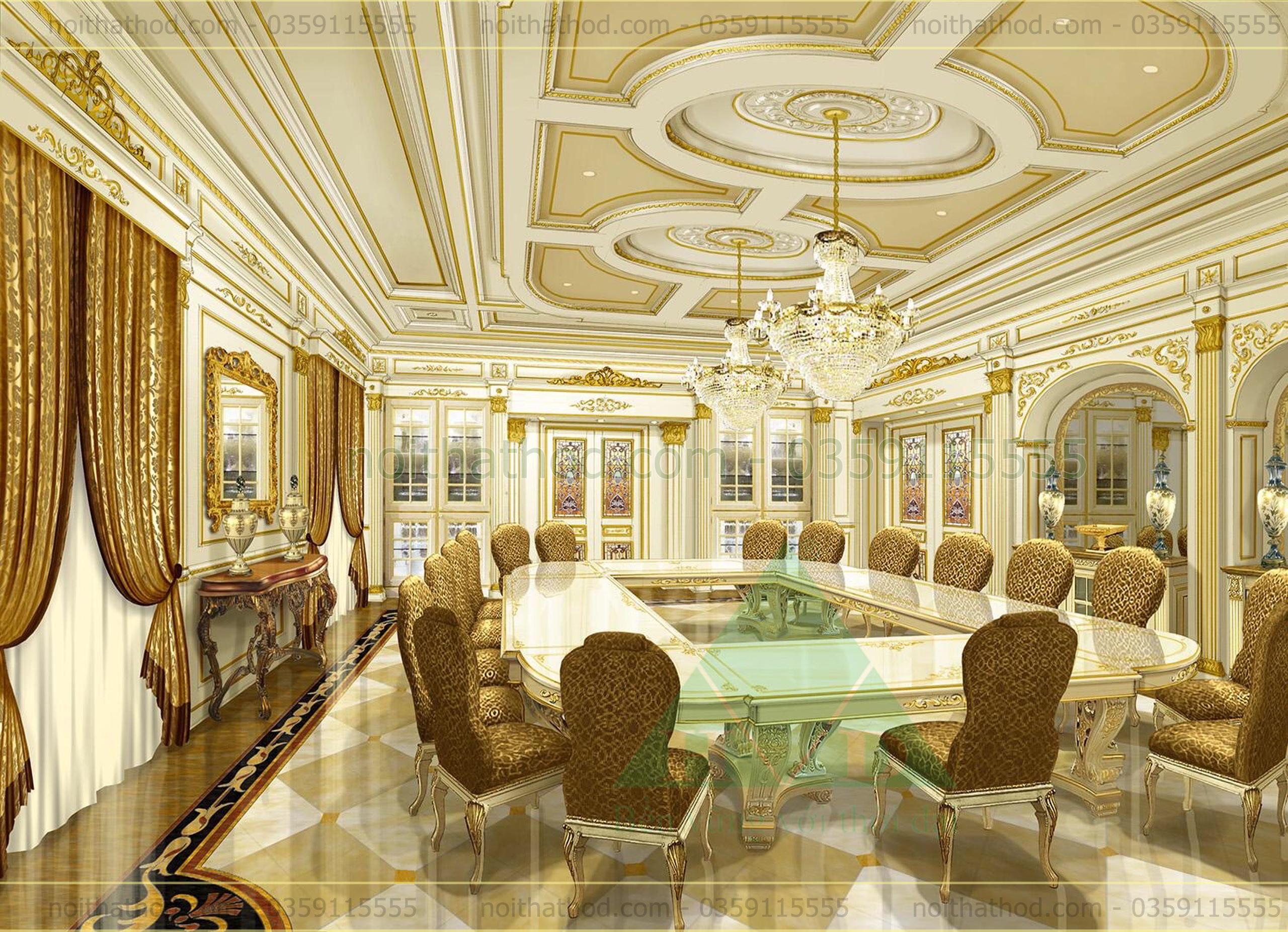 Thiết kế phòng khách dinh thự 5