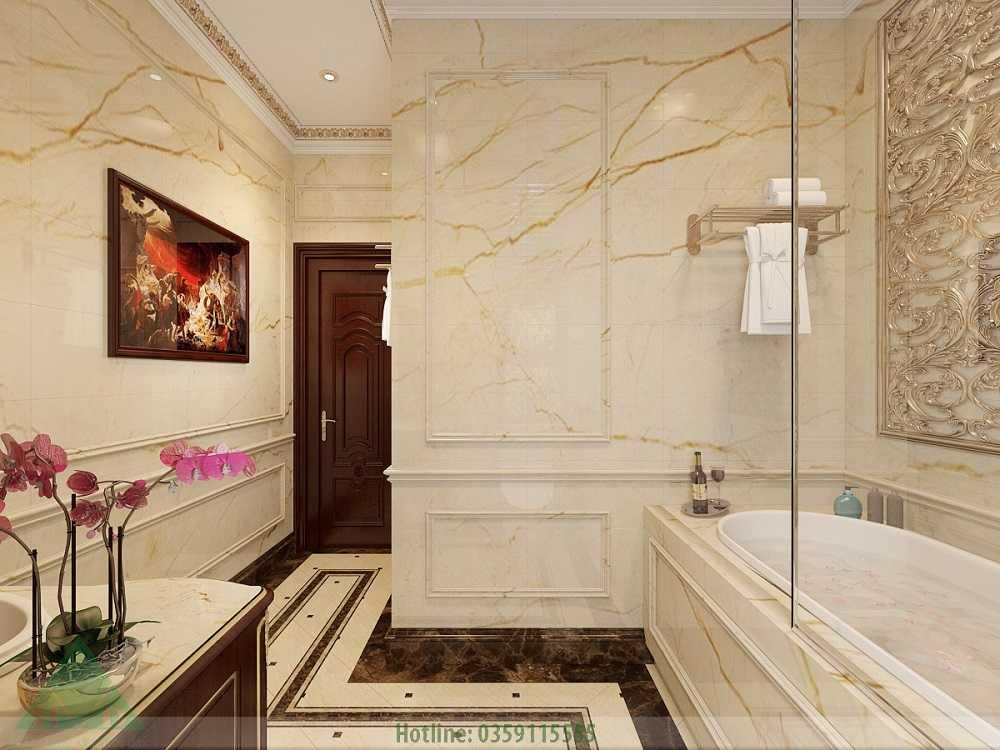 Thiết kế nội thất wc tầng trệt nhà Anh Đăng