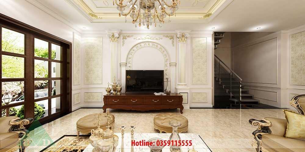 Thiết kế nội thất phòng khách, phòng bếp Anh Dũng Móng Cái