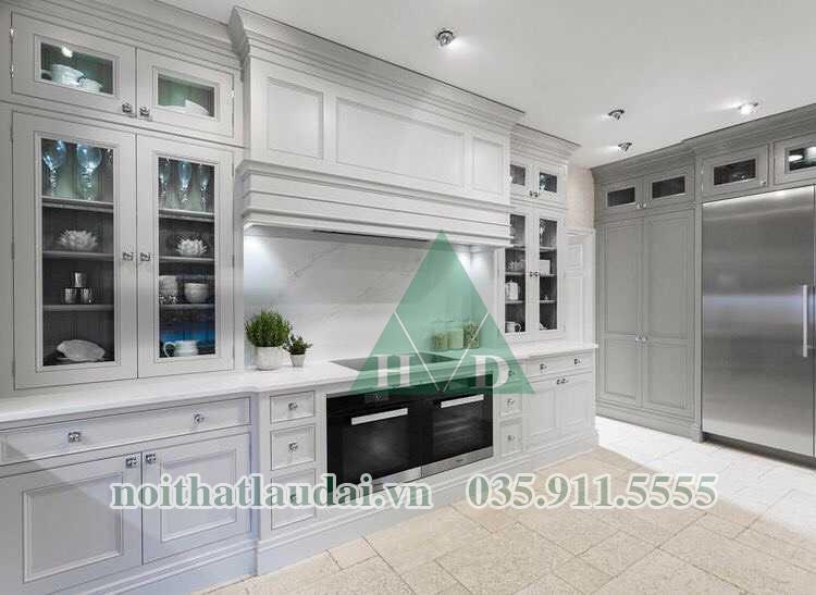 Thiết kế nội thất phòng bếp biệt thự Hà Nội