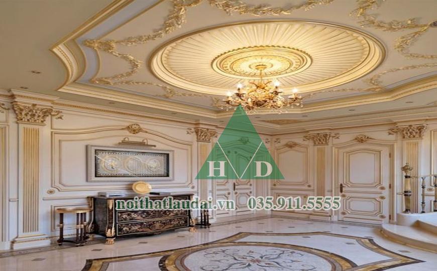 Thiết kế nội thất trần lâu đài 4