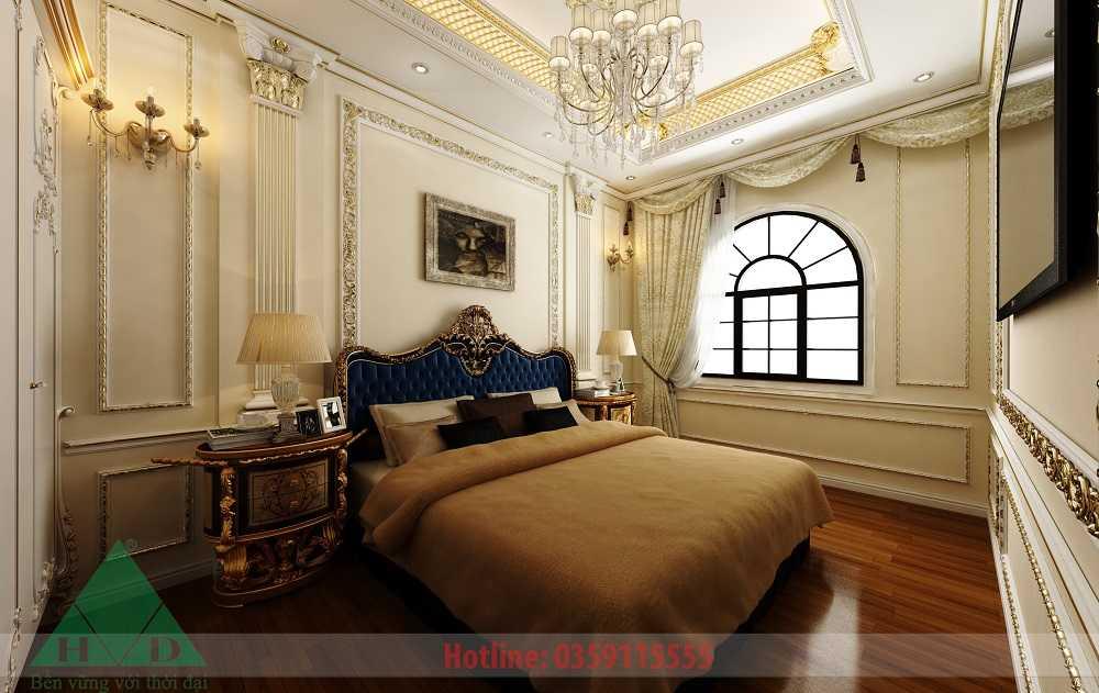 Thiết kế nội thất phòng ngủ 4 3D nhà Anh Long Móng Cái