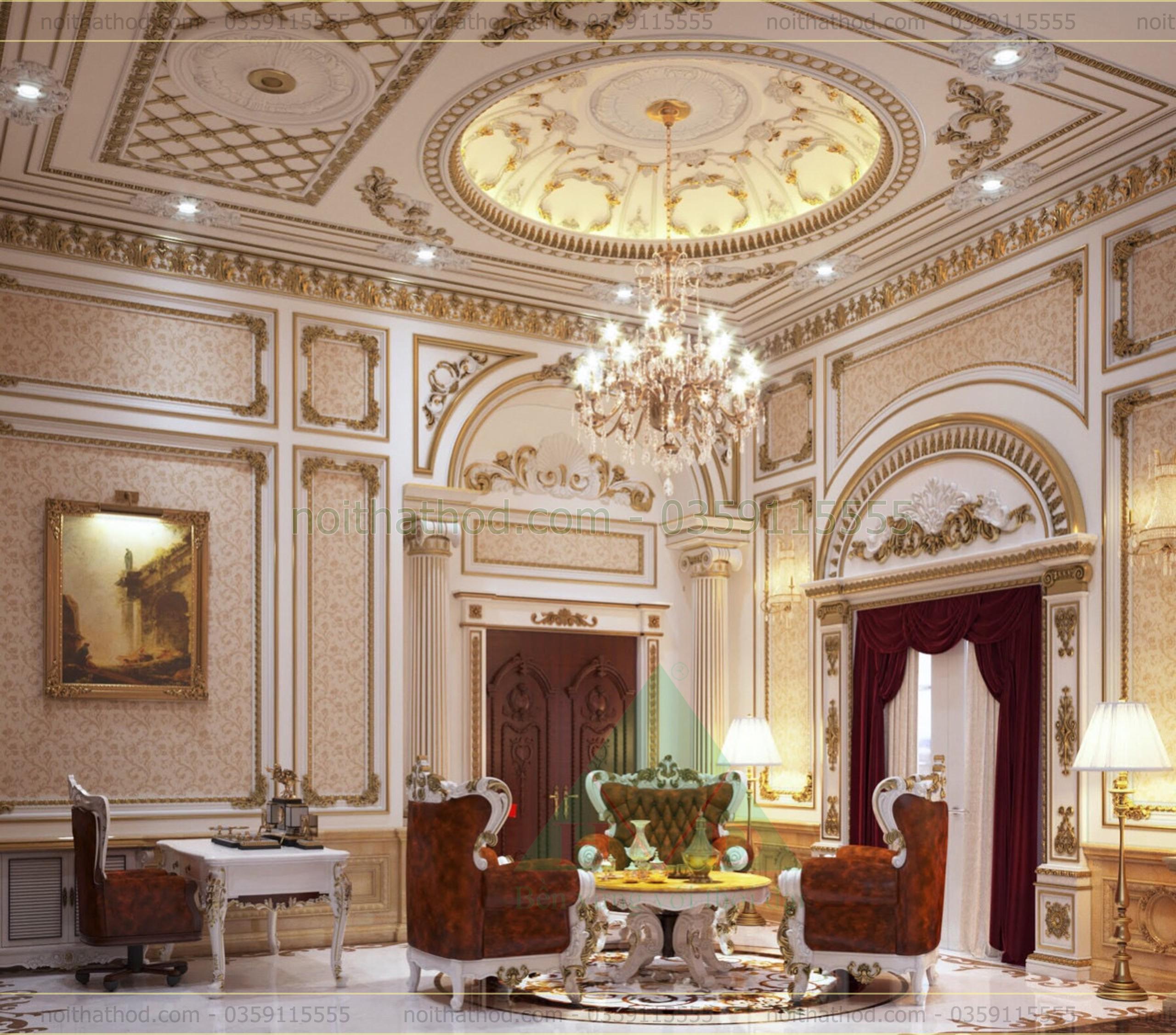 Thiết kế phòng khách dinh thự 3
