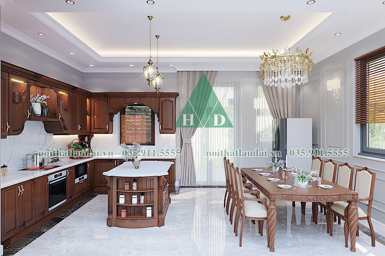 Thiết kế nội thất phòng bếp biệt thự 02
