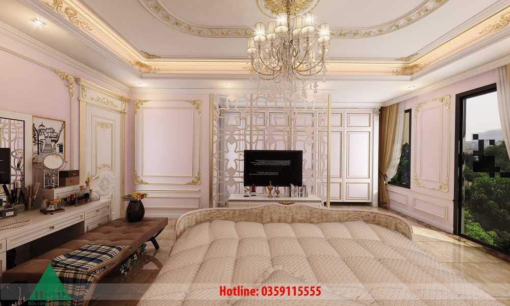 Thiết kế nội thất phòng ngủ con gái tầng 3 Nguyễn Chánh