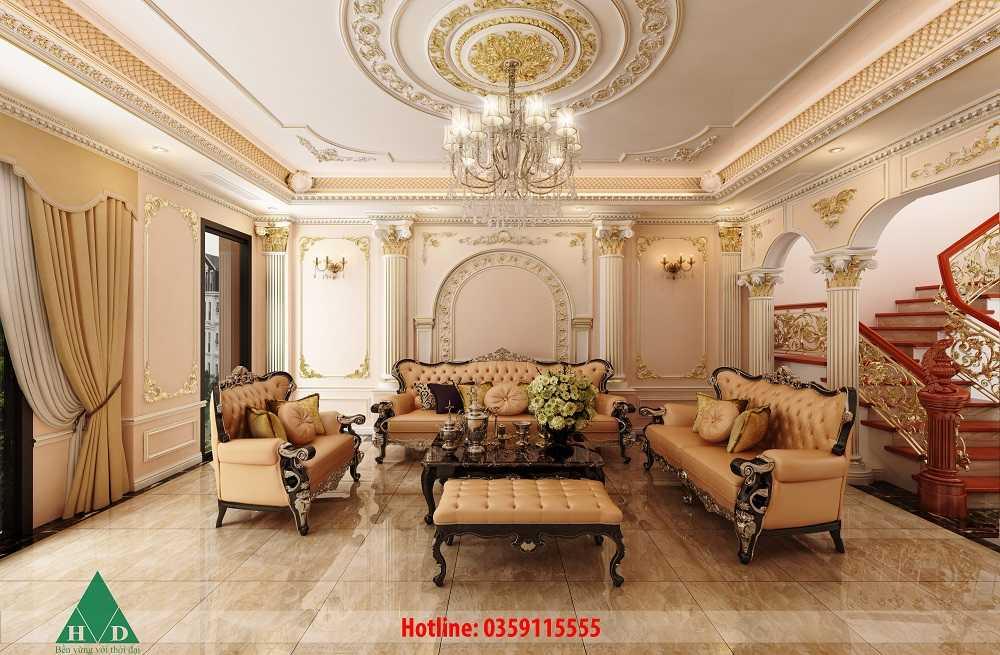 Thiết kế nội thất tầng 1 tầng 2 Nguyễn Chánh