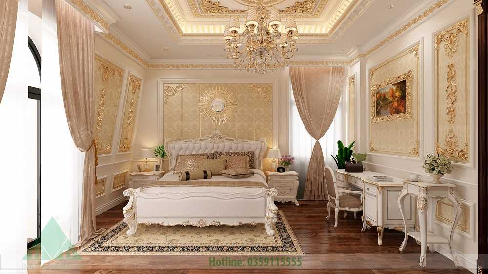 Thiết kế nội thất phòng ngủ tầng 2 nhà Anh Đăng