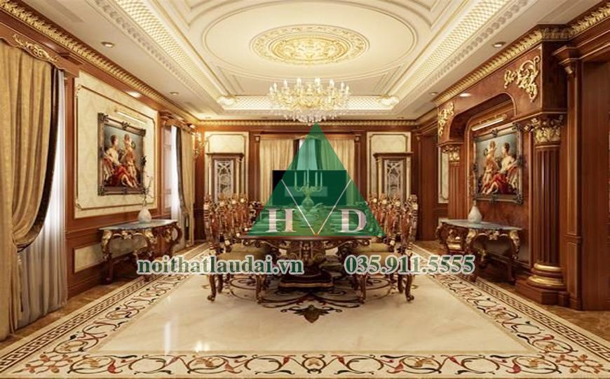 Thiết kế nội thất phòng ăn lâu đài