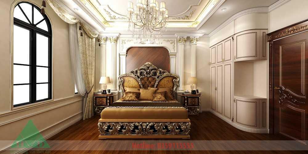 Thiết kế nội thất phòng ngủ 5 3D nhà Anh Long Móng Cái