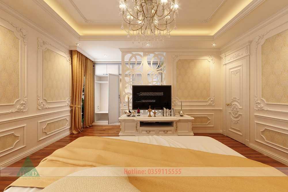 Thiết kế nội thất phòng ngủ khách tầng 4 Nguyễn Chánh
