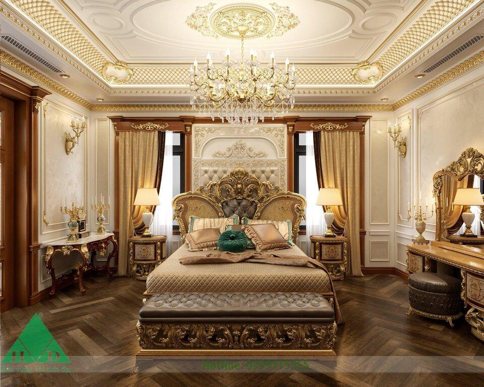 Thiết kế nội thất phòng ngủ biệt thự 01