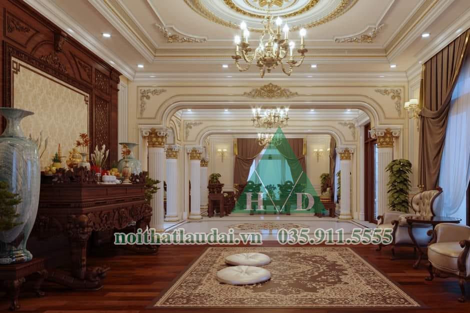 Thiết kế nội thất phòng thờ biệt thự 03