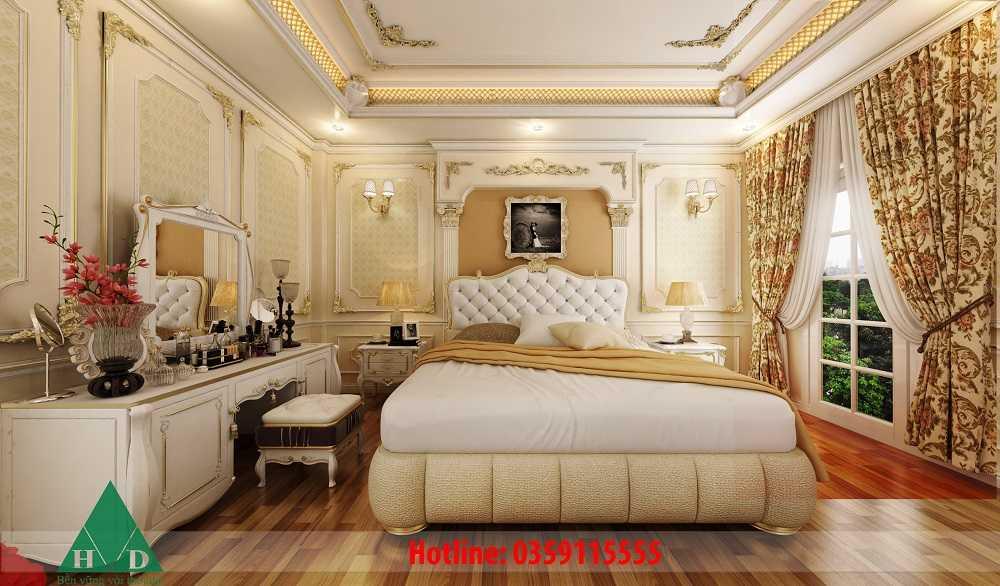 Thiết kế nội thất phòng ngủ Master tầng 2 Nguyễn Chánh